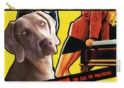 Weimaraner Art Canvas Print - Love Is My Profession Movie Poster Carry-all Pouch
