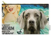 Weimaraner Art Canvas Print - River Of No Return Movie Poster Carry-all Pouch