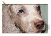 Weimaraner Dog Art - Forgive Me Carry-all Pouch by Sharon Cummings