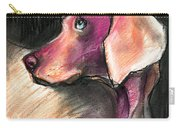 Weimaraner Dog Painting Carry-all Pouch by Svetlana Novikova