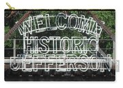 Welcome Historic Jefferson Texas Railroad Sign Carry-all Pouch