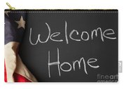 Welcome Home Sign On Chalkbaord Carry-all Pouch