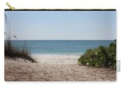 Welcome To The Beach Carry-all Pouch by Carol Groenen