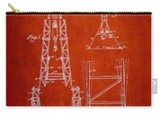 Well Drilling Apparatus Patent From 1960 - Red Carry-all Pouch