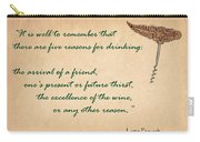 Well To Remember Carry-all Pouch by Elaine Plesser