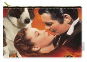 Welsh Corgi Cardigan Art Canvas Print - Gone With The Wind Movie Poster Carry-all Pouch