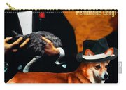 Welsh Corgi Pembroke Art Canvas Print - The Godfather Movie Poster Carry-all Pouch