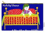 Welsh Snowman Bedtime  Carry-all Pouch