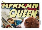 Welsh Springer Spaniel Art Canvas Print - The African Queen Movie Poster Carry-all Pouch