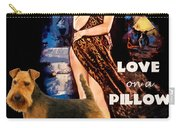 Welsh Terrier Art Canvas Print - Love On A Pillow Movie Poster Carry-all Pouch