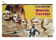 Welsh Terrier Art Canvas Print - North By Northwest Movie Poster Carry-all Pouch