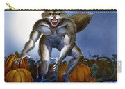 Werewolf With Pumpkins Carry-all Pouch