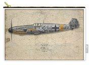 Werner Molders Messerschmitt Bf-109 - Map Background Carry-all Pouch
