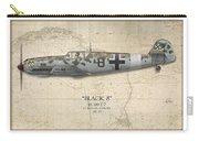 Werner Schroer Messerschmitt Bf-109 - Map Background Carry-all Pouch