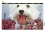 West Highland Terrier Dog In Heather Carry-all Pouch