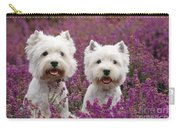 West Highland Terrier Dogs In Heather Carry-all Pouch