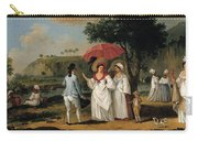 West Indian Landscape With Figures Promenading Before A Stream Carry-all Pouch