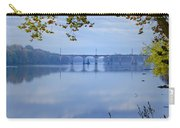 West Trenton Railroad Bridge Carry-all Pouch by Bill Cannon
