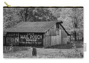 West Virginia Barn Monochrome Carry-all Pouch
