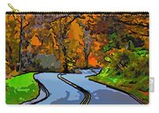 West Virginia Curves 2 Line Art Carry-all Pouch