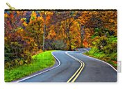 West Virginia Curves Painted Carry-all Pouch