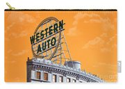 Western Auto Sign Artistic Sky Carry-all Pouch