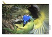 Western Diamondback Rattlesnake Striking Green Jay Carry-all Pouch