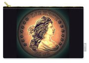 Western Draped Bust Liberty Dollar Carry-all Pouch
