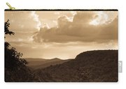 Western Mountain Scene In Sepia Carry-all Pouch