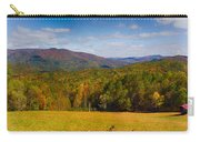 Western North Carolina Horses And Mountains Panorama Carry-all Pouch