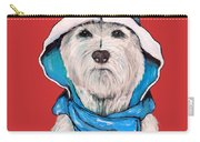 Westie In A Blue Slicker Carry-all Pouch