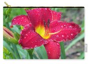 Wet Red Razzmatazz Daylily 1 Carry-all Pouch