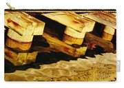 Wharf Reflections In Brown Carry-all Pouch