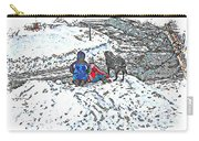 What Fascinates Children And Dogs -  Snow Day - Winter Carry-all Pouch