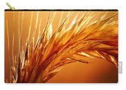 Wheat Close-up Carry-all Pouch by Johan Swanepoel