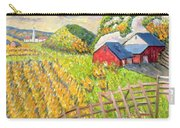 Wheat Harvest Kamouraska Quebec Carry-all Pouch by Patricia Eyre