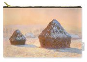 Wheat Stacks - Snow Effect Morning Carry-all Pouch