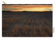 Wheat Stubble Sunset Carry-all Pouch by Mike  Dawson