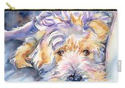 Wheaten Terrier Painting Carry-all Pouch