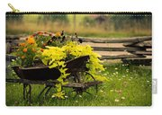 Wheel Barrow Of Flowers Carry-all Pouch