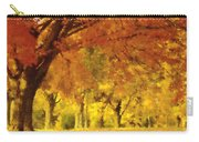 When Autumn Leaves Fall Carry-all Pouch