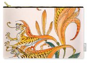 When Lilies Turned To Tiger Blaze Carry-all Pouch by Walter Crane