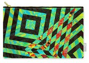 When Squares  Merge Green Carry-all Pouch