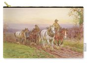 When The Days Work Is Done Carry-all Pouch by Charles James Adams