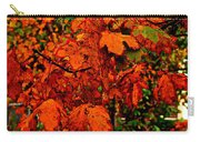 Where Has All The Red Gone - Autumn Leaves - Orange Carry-all Pouch