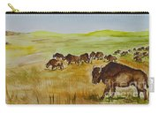 Where The Buffalo Roam Carry-all Pouch