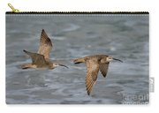 Whimbrels Flying Above Beach Carry-all Pouch
