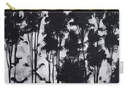 Whimsical Black And White Landscape Original Painting Decorative Contemporary Art By Madart Studios Carry-all Pouch