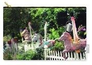 Whimsical Carousel Horse Fence Carry-all Pouch