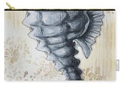 Whimsical Coastal Art Original Sea Horse Painting Sea Fantasy By Megan Carry-all Pouch